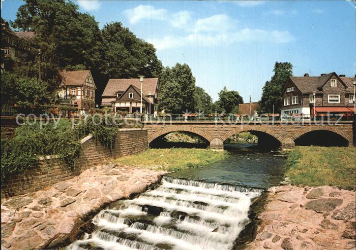 Bad Berleburg Partie an der Odeborn Wehr Bruecke Kat. Bad Berleburg