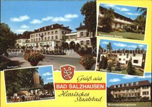 Bad Salzhausen Kurhaus Kurkonzert Muettergenesungsheim Pension Waldhof Kat. Nidda