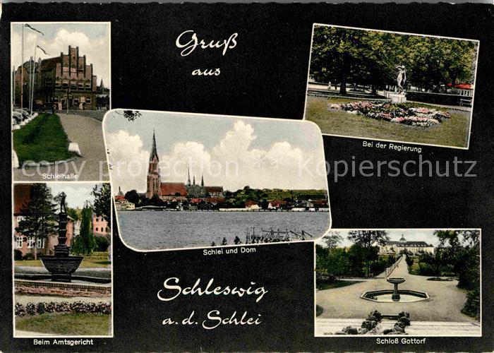 Schleswig Schlei Schleihalle Regierung Amtsgericht Schloss Gottorf Kat. Erfde