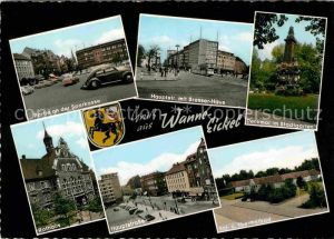 Wanne Eickel Bresserhaus Rathaus Thermalbad Denkmal Stadtgarten Kat. Herne