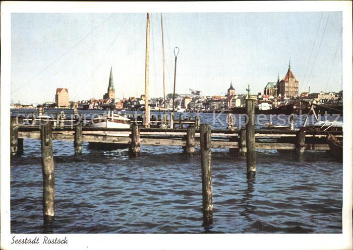 Rostock Mecklenburg Vorpommern Partie im Hafen Kat. Rostock