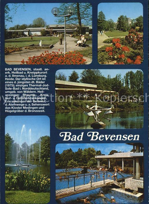 Bad Bevensen Kurpark Thermalbad Fontaenen Kat. Bad Bevensen