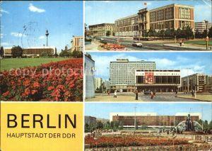 Berlin Palast der Republik Staatsgebaeude Interhotel Palast der Republik Neptunbrunnen Kat. Berlin