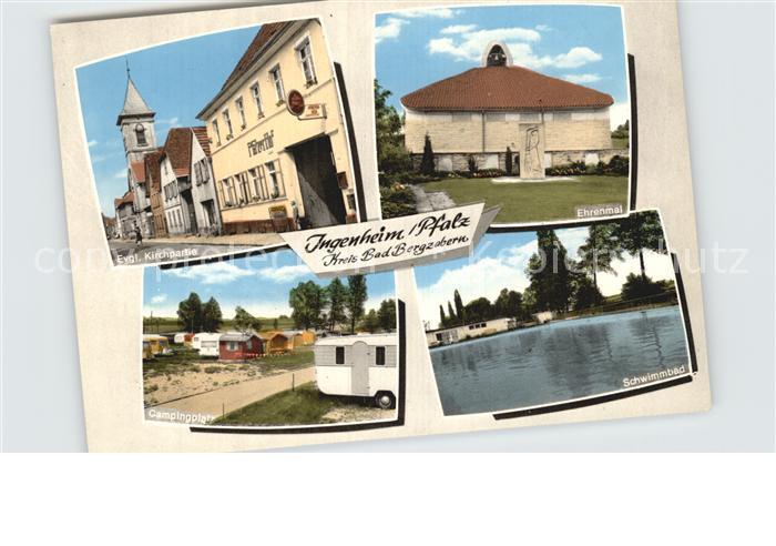 Ingenheim Suedliche Weinstrasse Gaststaette Pfaelzer Hof Kat. Billigheim Ingenheim