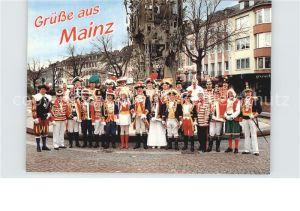 Mainz Rhein Die Eskortenleiter der Mainzer Garden am Fasnachtsbrunnen