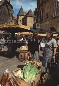 Sarlat la Caneda Markt Kat. Sarlat la Caneda