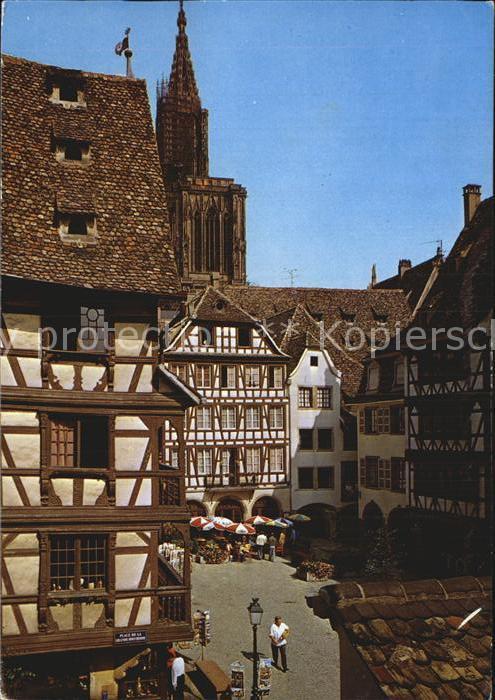 Strasbourg Alsace Place du Marche aux Cochons de Lait Kat. Strasbourg