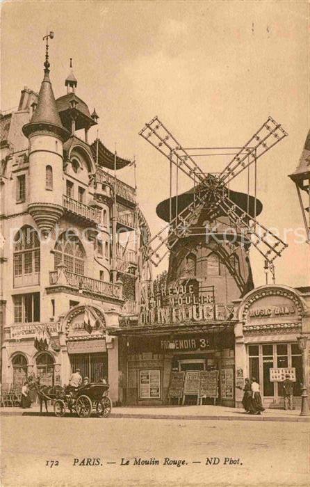 Paris Le Moulin Rouge Kat. Paris
