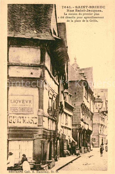 Saint Brieuc Cotes d Armor Rue Saint Jacues Kat. Saint Brieuc