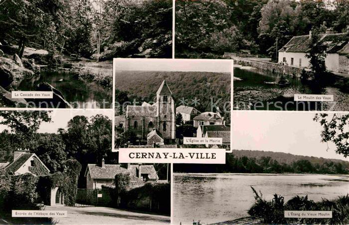 Cernay la Ville Cascade des Vaux Moulin des Vaux Abbayee Vaux Kat. Cernay la Ville