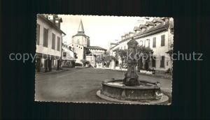 Saint Savin Hautes Pyrenees La Place et la Fontaine Kat. Saint Savin