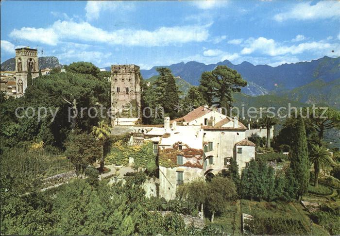 Ravello Villa Rufolo con Torre Campanie della Cattedrale  Kat. Italien
