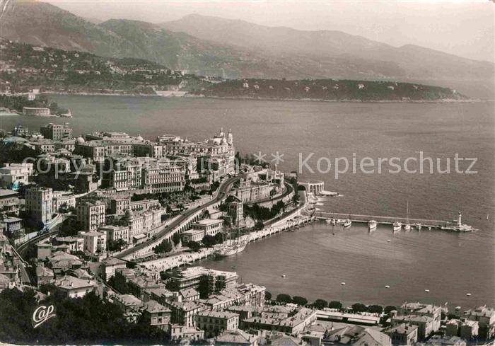 Monte Carlo Vue generale le cap Martin et Italie Kat. Monte Carlo