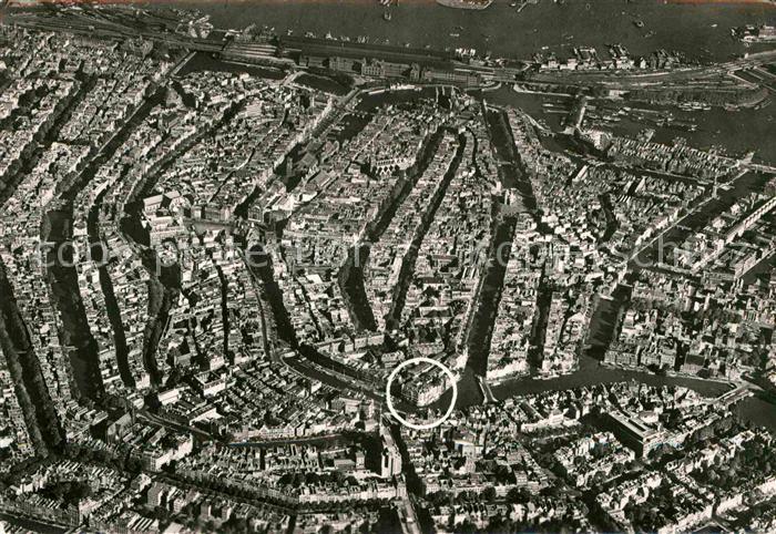 Amsterdam Niederlande Fliegeraufnahme Hotel de l Europe Kat. Amsterdam