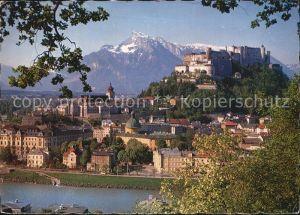 Salzburg Oesterreich Festung Hohensalzburg und Untersberg Kat. Salzburg
