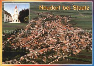 Neudorf Staatz Fliegeraufnahme Kat. Neudorf bei Staatz
