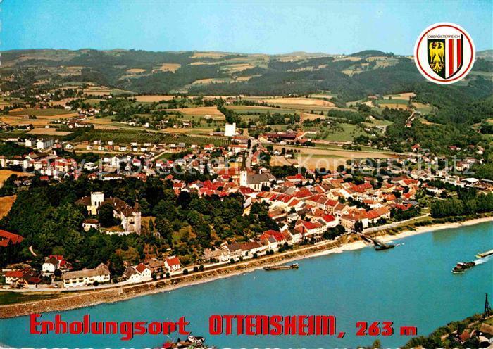 Ottensheim Fliegeraufnahme mit Schloss  Kat. Ottensheim