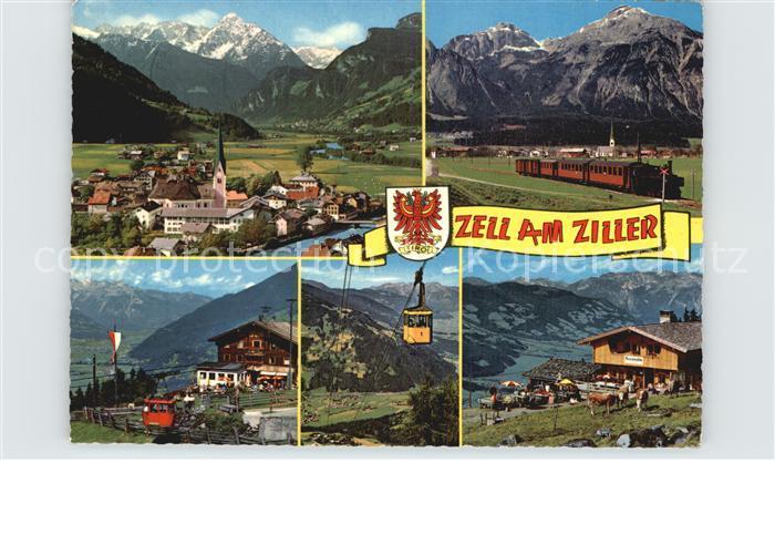Zell Ziller Tirol Seilbahn Eisenbahn Kat. Zell am Ziller