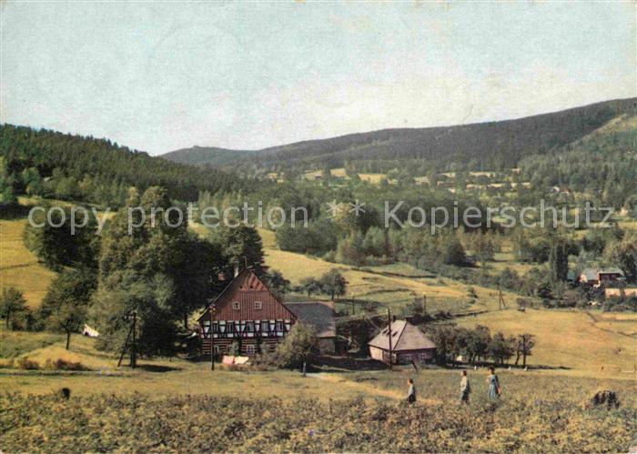Szklarska Poreba Schreiberhau Bauernhaus Landschaftspanorama