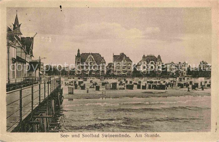 Swinemuende Swinoujscie Strand See Solbad