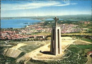 Almada Monumento Cristo Rei Fliegeraufnahme Kat. Almada