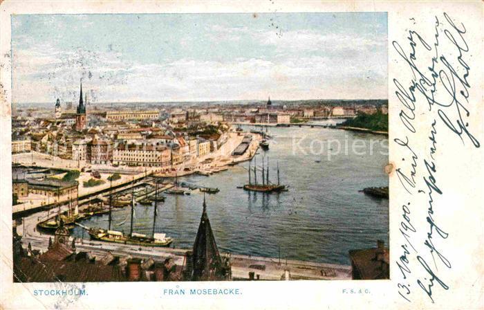 Stockholm Fran Mosebacke Kat. Stockholm