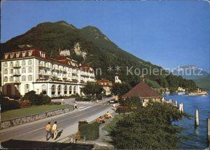 Gersau Vierwaldstaettersee Hotel Mueller an der Uferstrasse Kat. Gersau