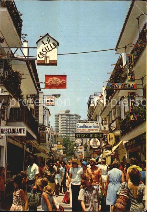 Torremolinos San Miguel Strasse Kat. Malaga Costa del Sol