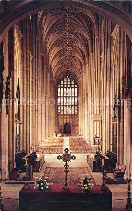 Canterbury UK The Nave Canterbury Cathedral Kat. Canterbury