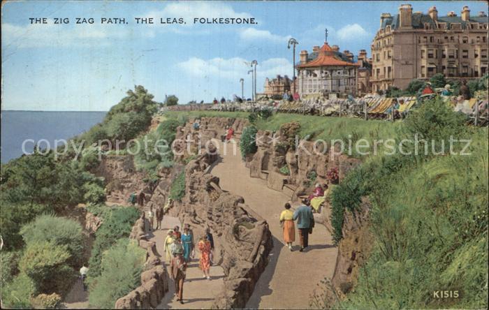 Folkestone The Zig Zag Path The Leas Kat. Shepway