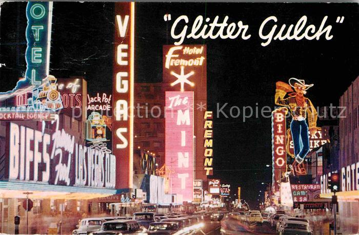 Las Vegas Nevada Glitter Gulch Freemont Street Kat. Las Vegas