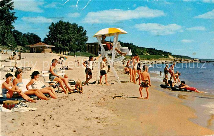 Muskegon Pere Marquette Park Beach of Lake Michigan Kat. Muskegon