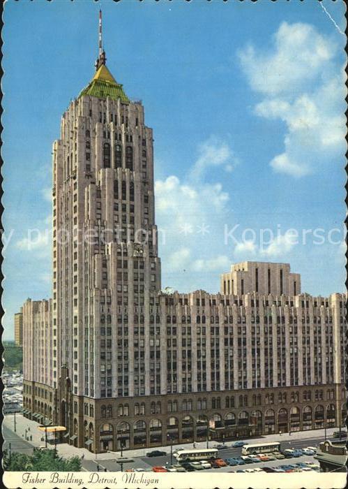 Detroit Michigan Fisher Building Kat. Detroit