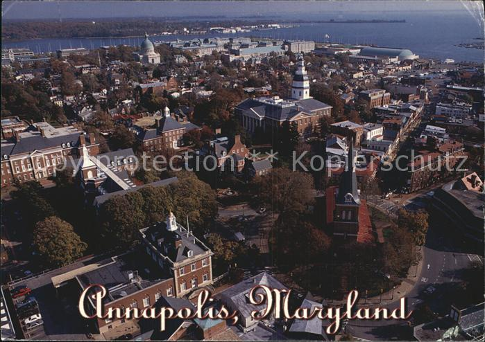 Annapolis Maryland St Anne s Episcopal Church aerial view Kat. Annapolis