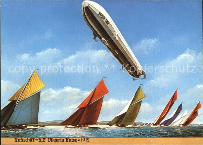 Zeppelin Luftschiff LZ Viktoria Luise 1912 Kat. Flug