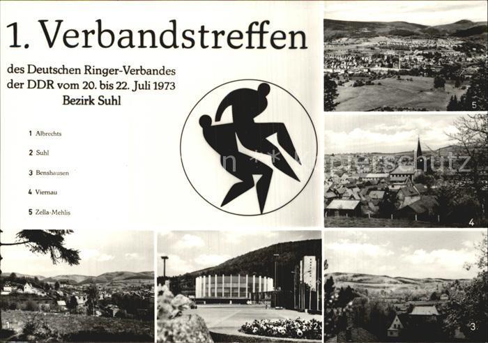 Ringen 1. Verbandstreffen DDR Albrechts Suhl Benshausen Viernau  Kat. Sport