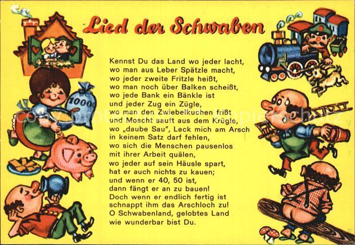 Liederkarte Lied der Schwaben  Kat. Musik