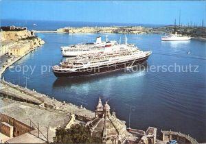 Schiffe Grand Harbour Valletta Malta  Kat. Schiffe