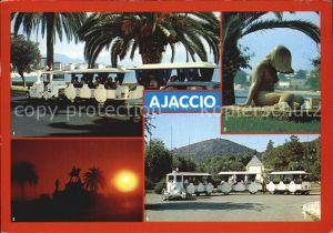 Touristenzug Ajaccio Petit Train Boulevard Lantivy Place Trottel