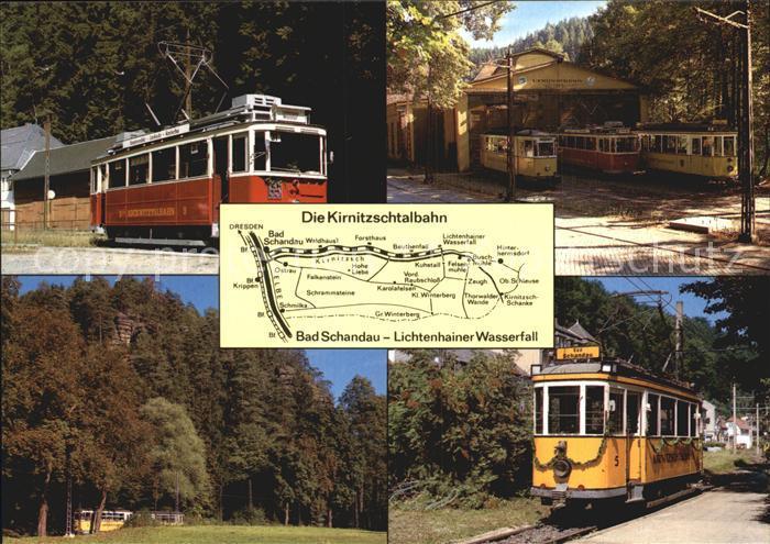Strassenbahn Kirnitzschtal Triebwagen 9 Triebwagen 5  Kat. Strassenbahn