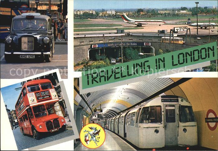 U Bahn Subway Underground Metro Autobus Auto Flugzeug London Heathrow Airport