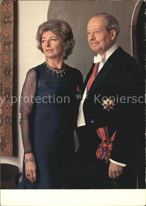 Adel Liechtenstein Fuerst Franz Josef II. Fuerstin Gina Kat. Koenigshaeuser