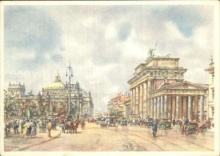 Kuenstlerkarte Wolfgang Tritt Berlin Brandenburger Tor  Kat. Kuenstlerkarte