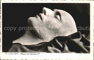 Skulpturen Masque de Napoleon I Invalides  Kat. Skulpturen