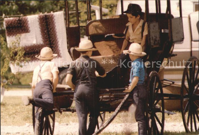 Typen Amish Boys Old Buggy  Kat. Typen