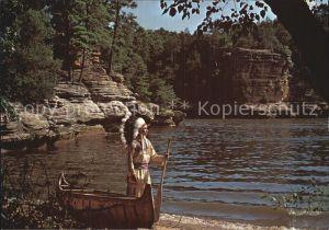 Indianer Native American Upper Dells Wisconsin River  Kat. Regionales