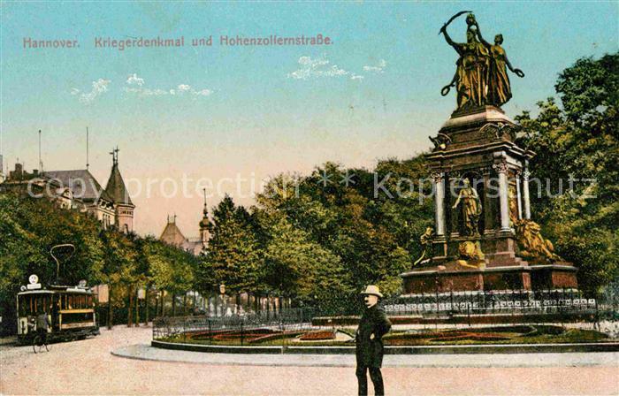 Hannover Kriegerdenkmal und Hohenzollernstrasse Kat. Hannover
