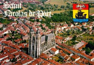 Saint Nicolas de Port Basilique de style gothique vue aerienne Kat. Saint Nicolas de Port