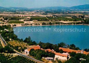 La Motte d Aigues Lac de La Bonde Chateau vue aerienne Kat. La Motte d Aigues