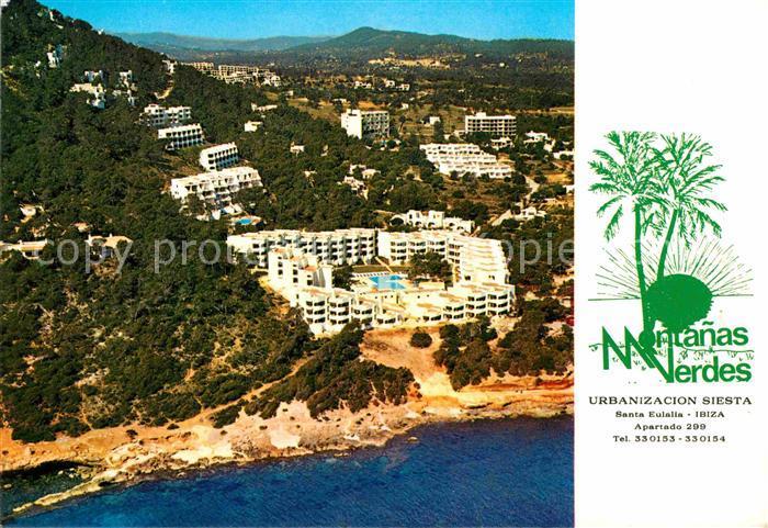 Santa Eulalia del Rio Apartamentos Montanas Verdes vista aerea Kat. Ibiza Islas Baleares